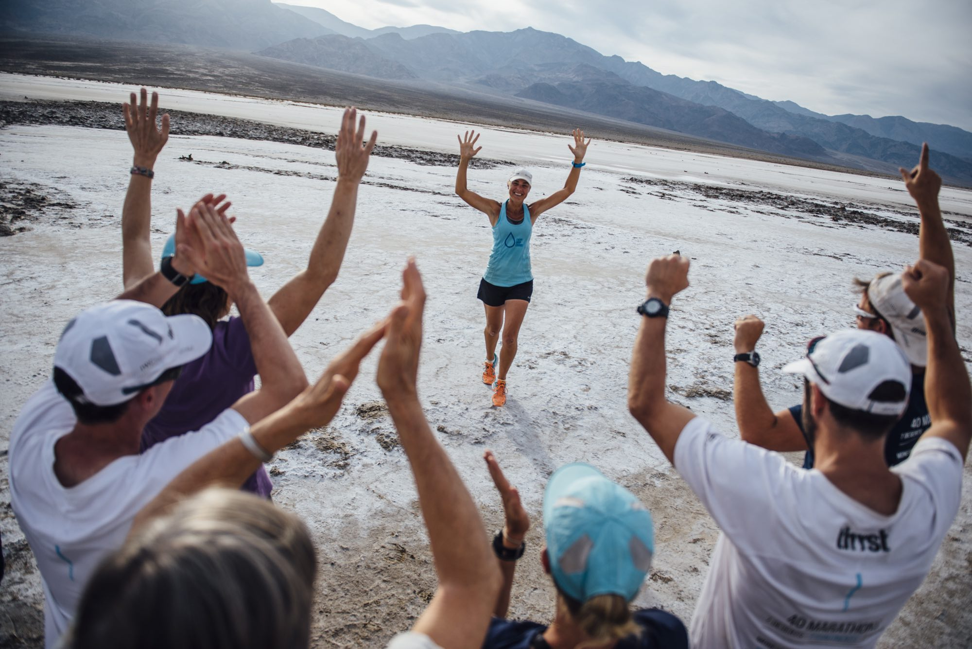 100 marathons in one day- together and all across the world. #RunningDry platform