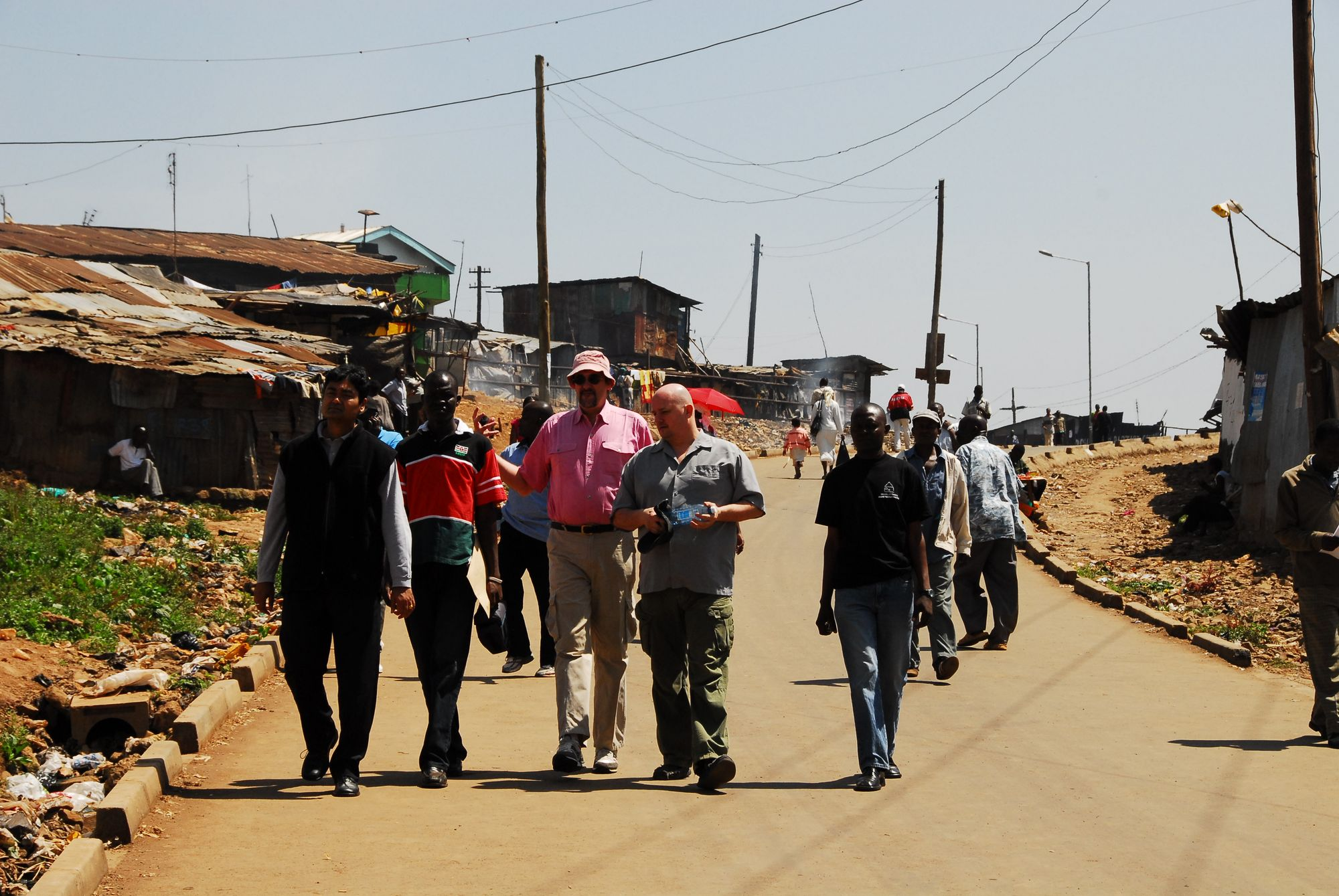 Visit to the Kibera slum in southwest Nairobi