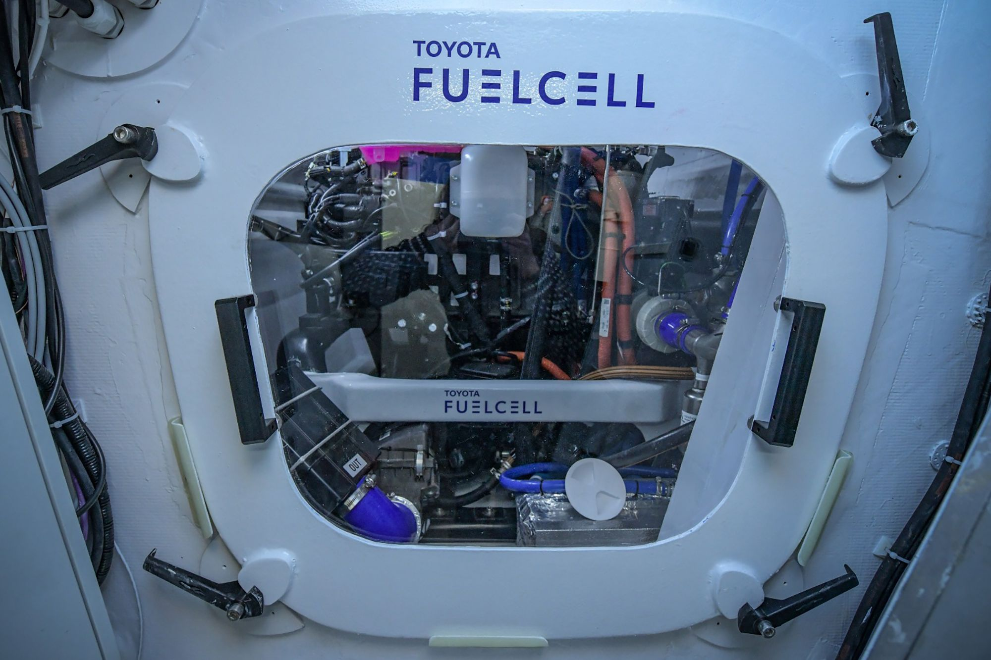 Toyota developed the specially designed fuel cell system of the first energy self-sufficient
