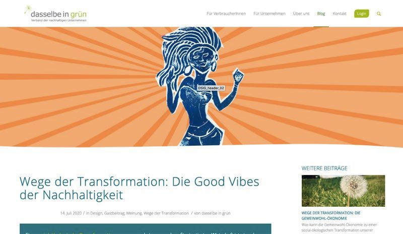 Translation: Way to Transformation: The good vibes for Sustainability