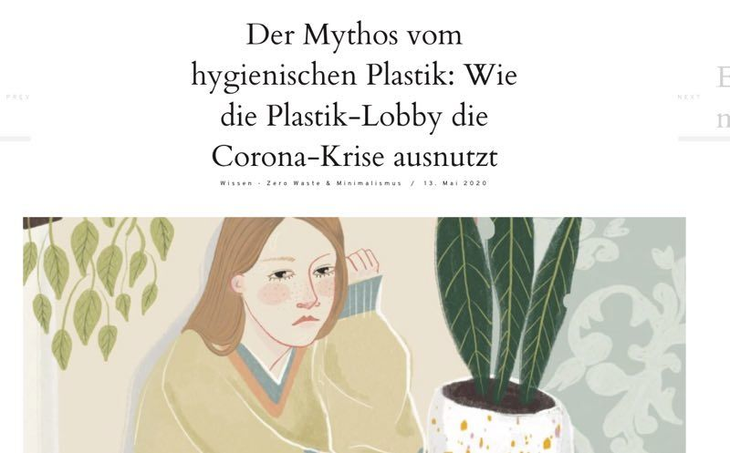 Translation: The myth of Hygienic plastic: How the Plastic Lobby is misusing the Corona crisis