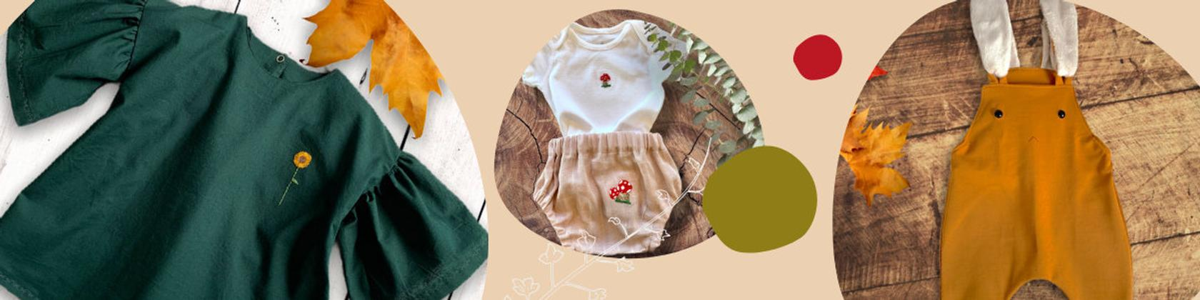 Love from natural fabrics for children's clothing pieces. @etsy.com.