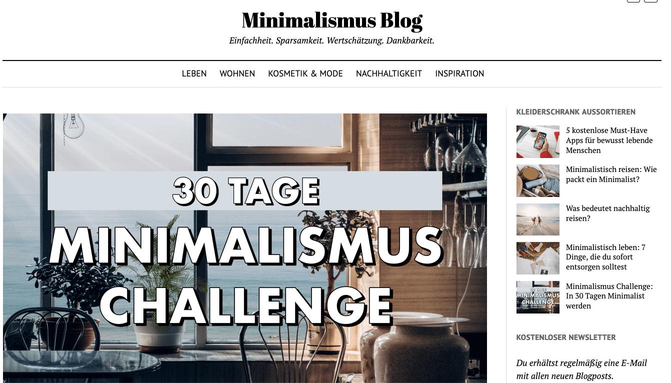 #30 Tage minimalismus challenge