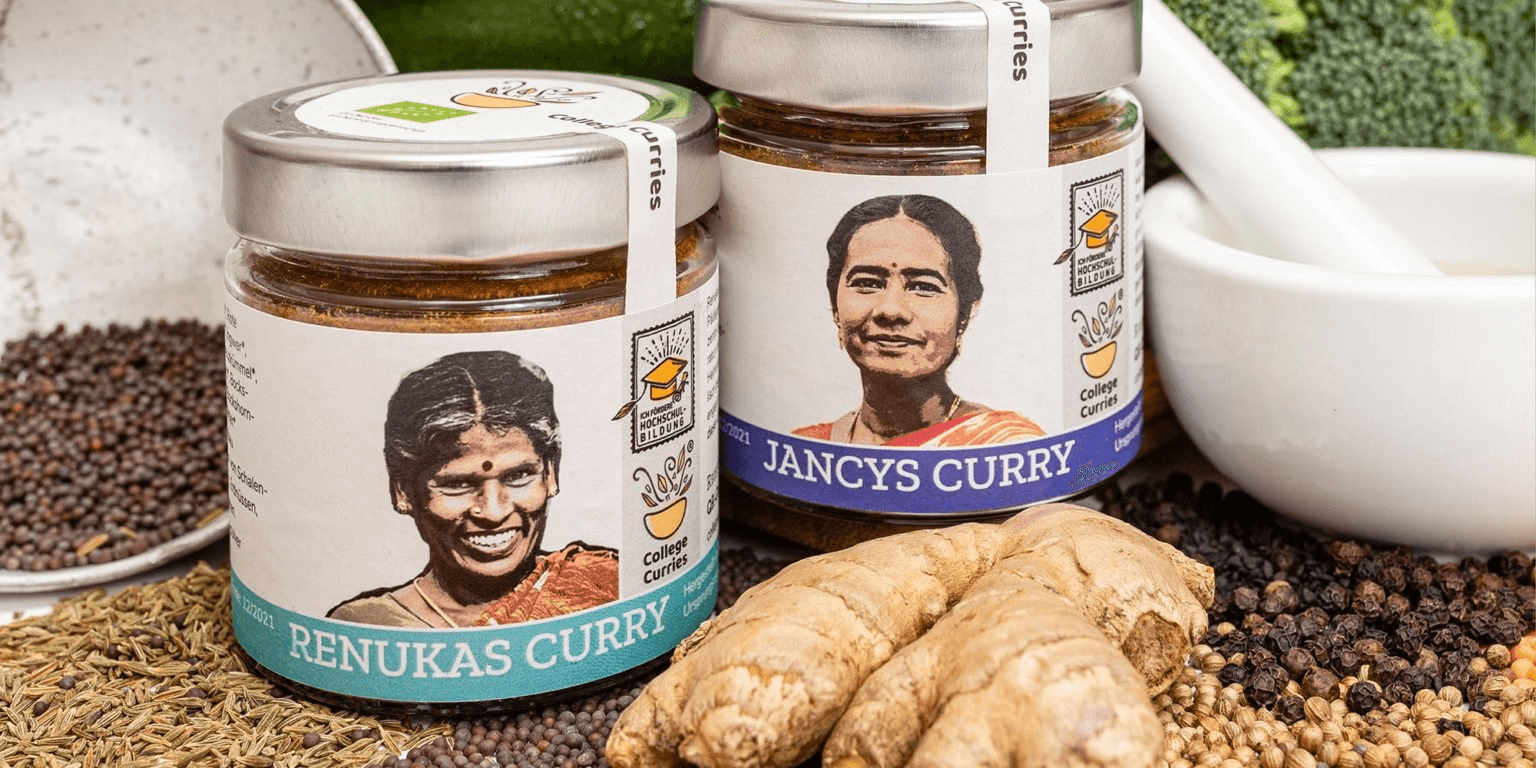 The website offers Indian recipes, stories about students who are going to colleges from this initiative, and the option of buying the curry powder mixes. Picture Courtesy: Collegecurries.de