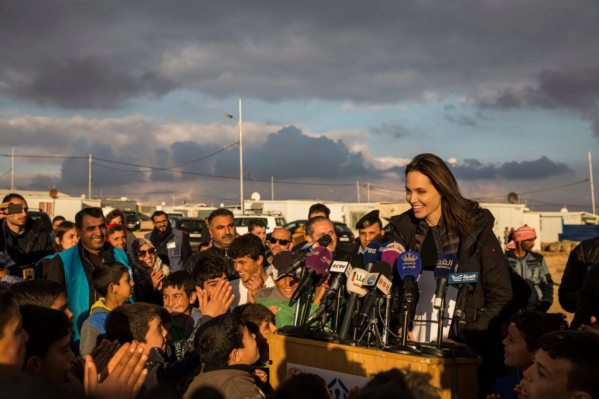 Syrian refugees in the Za'atari camp in Jordan 2018, © UNHCR/Ivor Prickett