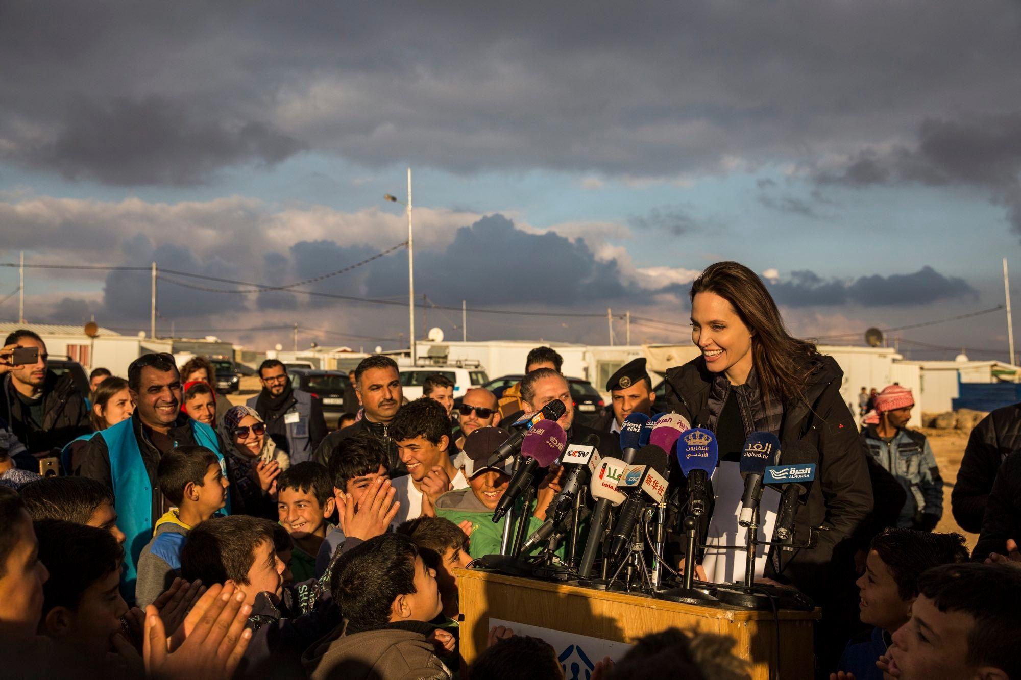 Syrische Flüchtlinge im Lager Za'atari in Jordanien 2018, © UNHCR/Ivor Prickett