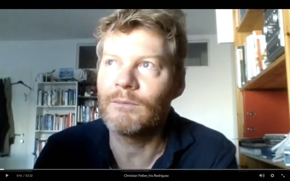 We conducted the interview with author and activist Christian Felber - as all do in these times - via video conference